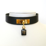 perfume bottle leather choker