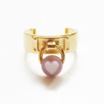 Vintage Heart Lock Ring